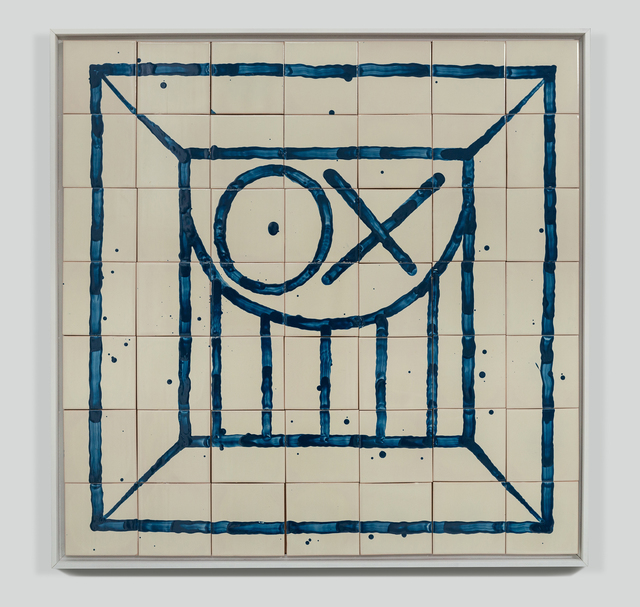 André Saraiva, 'Square Mr. A Tile 1', 2017, Mixed Media, Hand-painted tiles, Underdogs Gallery