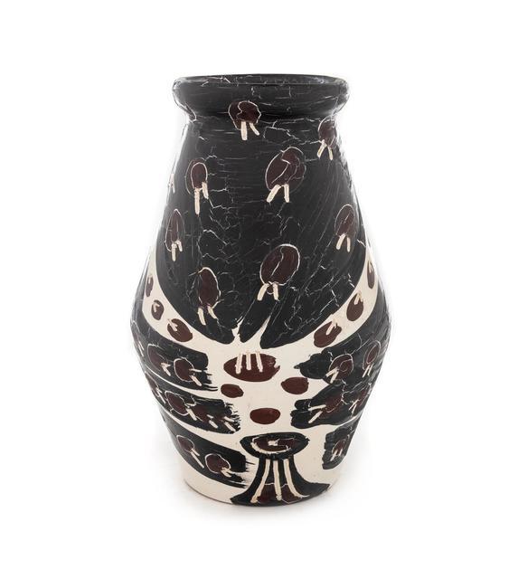 Pablo Picasso, 'Hibou marron noir', 1951, Design/Decorative Art, White earthenware clay decoration in oxides, with knife engraving on white enamel, Hindman