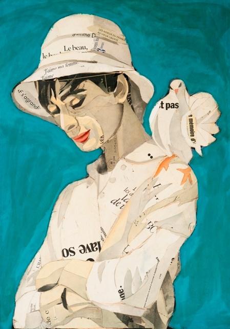 , 'Audrey with doves,' ca. 2019, GALERIA JORDI BARNADAS
