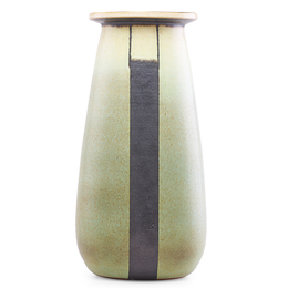 Fine large vase with black stripes, Claremont, CA