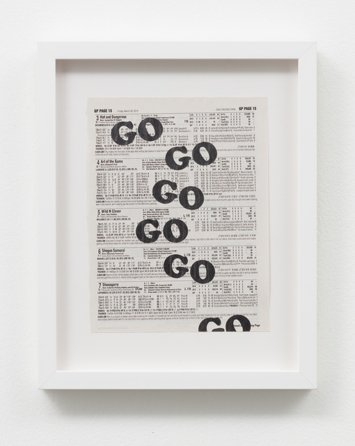 , 'Untitled (Go Go Go),' 2016, Charlie James Gallery