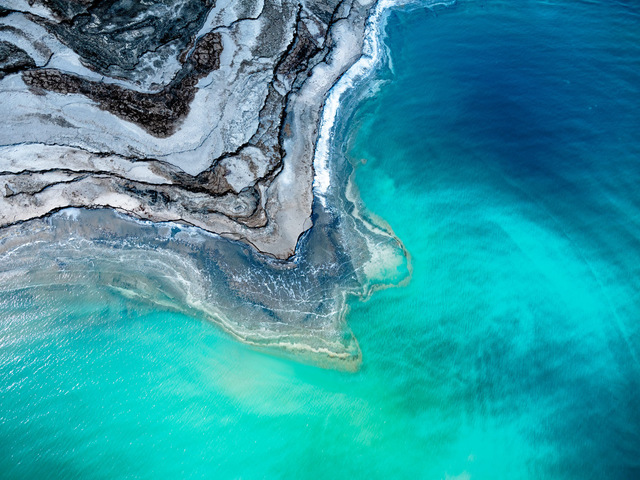 Dinesh Boaz, 'Layers in Life, Dead Sea, Israel / Photograph from Helicopter  Ed. 2/10', 2019, THE WHITE ROOM GALLERY