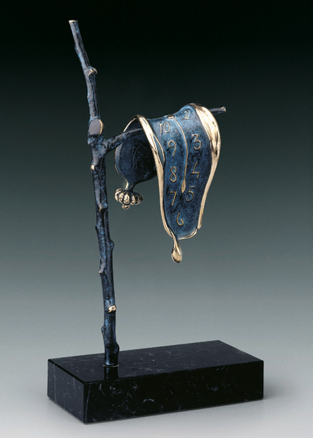 Salvador Dalí, 'Persistence of Memory', ca. 1980, Sculpture, Bronze and Blue Petina, Hazelton Fine Art Galleries