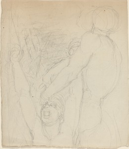 John Flaxman, 'Two Fighting Figures', Drawing, Collage or other Work on Paper, Graphite on laid paper, National Gallery of Art, Washington, D.C.