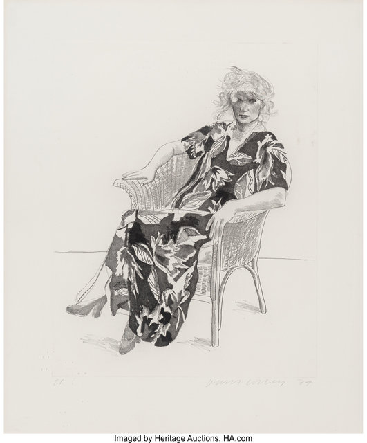 David Hockney, 'Celia in a Wicker Chair', 1974, Heritage Auctions