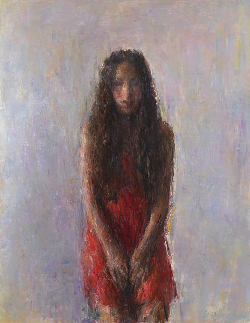 , 'Aure en rouge assise,' 2016, Galerie Koch