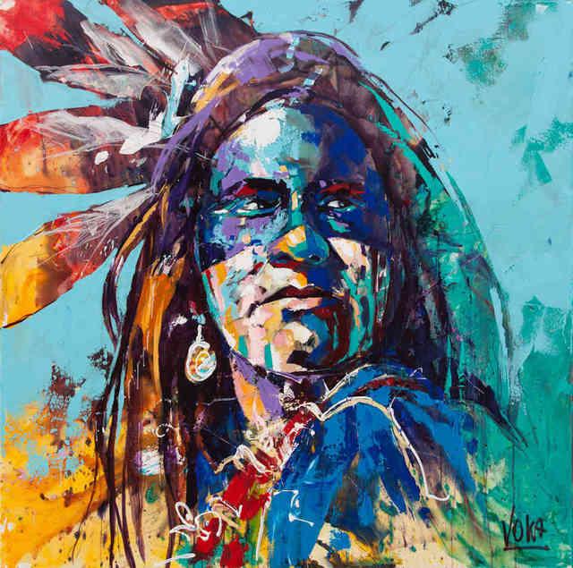 , '08 Native American,' 2019, ArtCatto