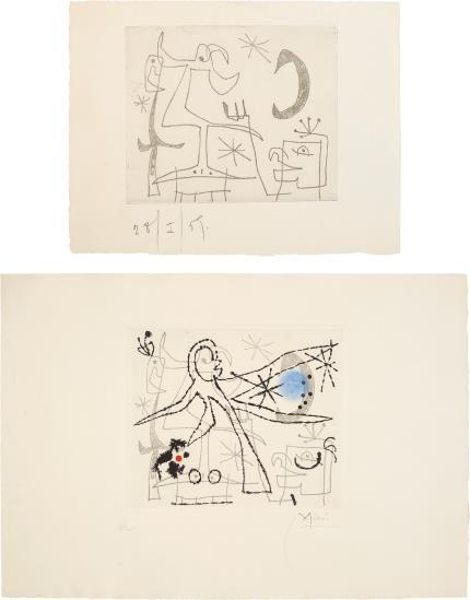 , 'L'oiseau Dresse: Two Impressions,' 1960, Galerie Maximillian
