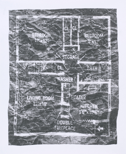 , 'Levittown Rancher Floor Plan, 4 July 2015, 5:32 pm,' 2015, Lora Reynolds Gallery