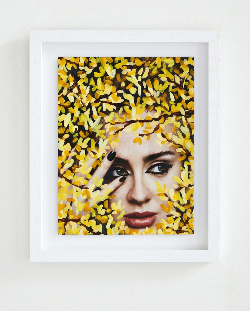 Michael De Feo, 'The Fashion Pages' installation view at The Garage, Amsterdam. 'Untitled' (Adele by Alasdair McLellan for i-D, Winter 2015, Yellow).