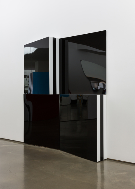 , '2 Black emerging triangular boxes, situated work, haut-relief Seoul No.22,' 2015, 313 Art Project