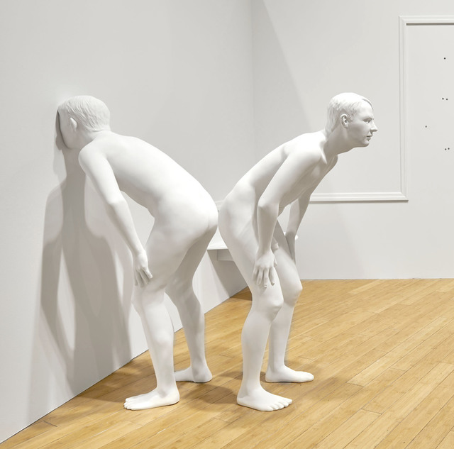 , 'Untitled (leaning male #1, no face),' 2018, HATHAWAY | Contemporary Gallery