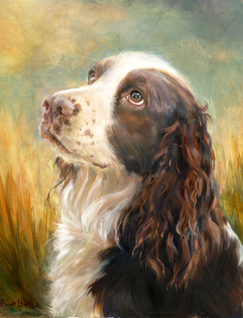 , 'English Springer Spaniel,' 2014, Dog & Horse Fine Art