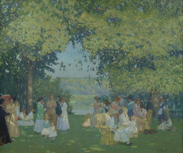 , 'Lawn Fete,' ca. 1920, Debra Force Fine Art