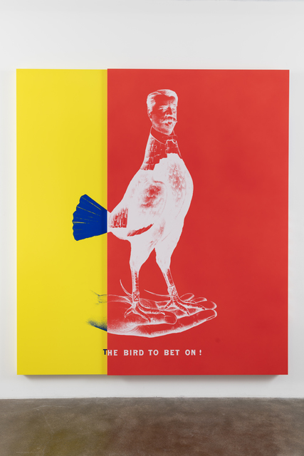 , 'WEE MAN FOR PRESIDENT aka Historical Campaign Poster Painting No.3 (The Bird to Bet On),' 2015, Nasher Sculpture Center