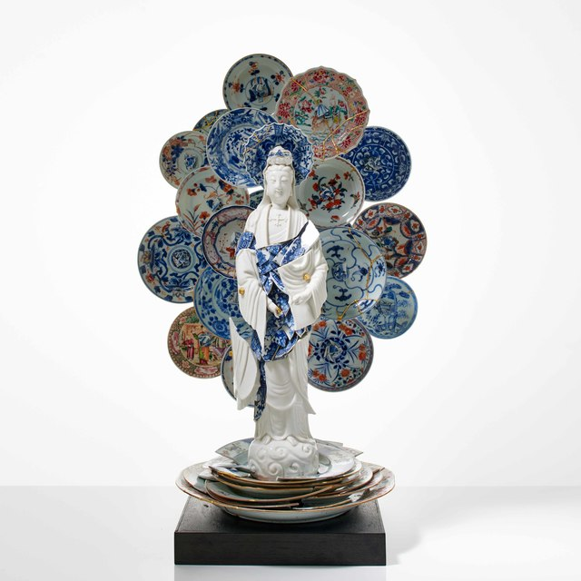 Bouke de Vries, 'Guan Yin with a Nimbus of Saucers', 2019, Adrian Sassoon