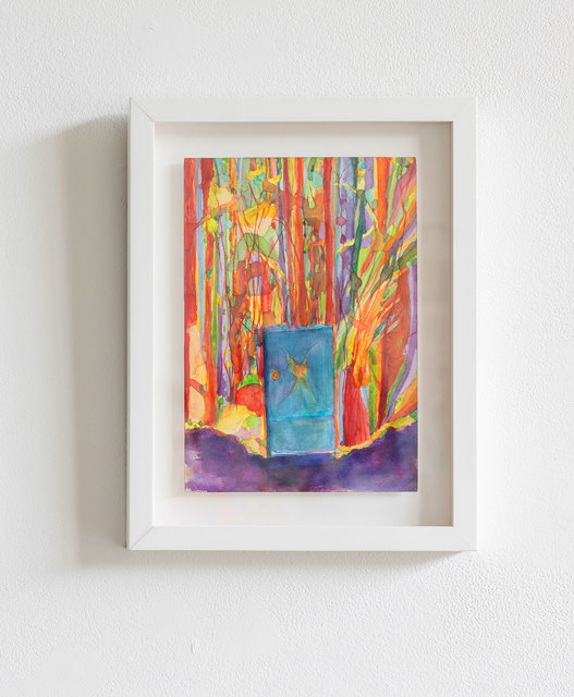 Santiago Cucullu, 'Electric Box in the Woods', 2016, Painting, Watercolor and pencil on paper, Simone DeSousa Gallery