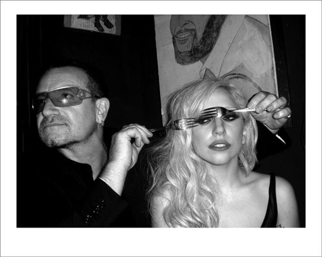 Mick Rock, 'Bono and Lady Gaga, New York', 2009, The Bonnier Gallery