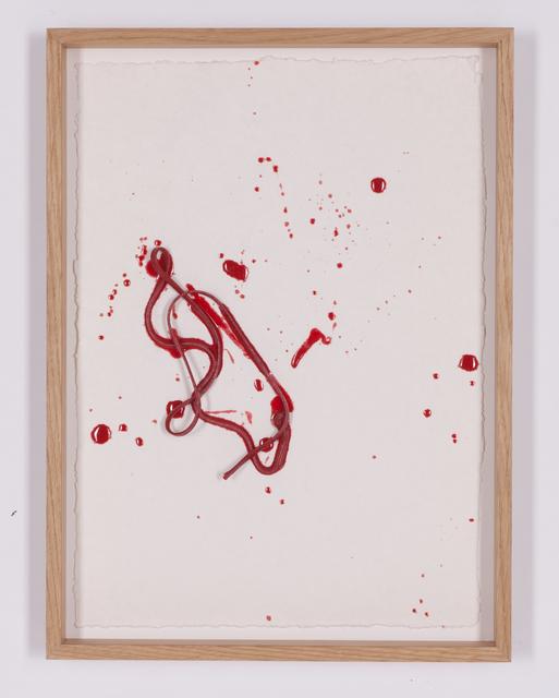 , 'Line Drawing (red) #2,' 2017, Galerie Nikolaus Ruzicska