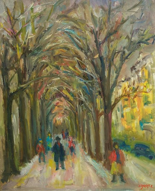 Jacques Zucker, 'Tree Lined Park Path', Mid-20th Century, Lions Gallery