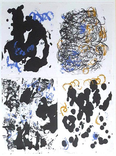 , 'Blue Wigglies,' , Paraphé