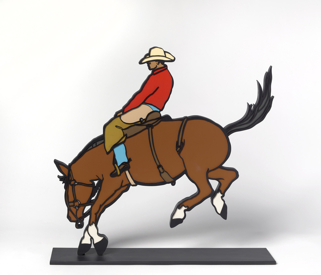 Logan Maxwell Hagege, 'Raised in the Saddle', 2020, Sculpture, Aluminum and Paint, Maxwell Alexander Gallery