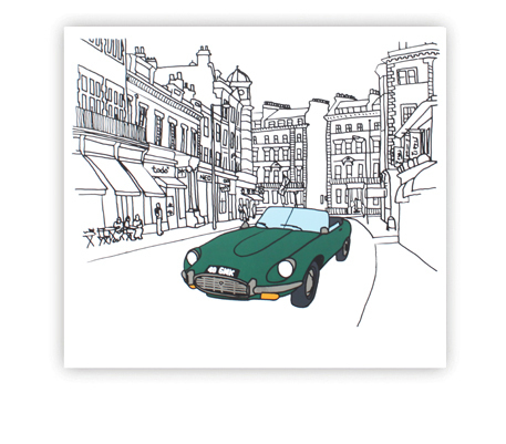 , 'Daddy's E-type,' , Royal Society of Painter-Printmakers
