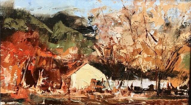 Sandra Pratt, 'Irsi Farm', 2021, Painting, Oil on Linen, Abend Gallery