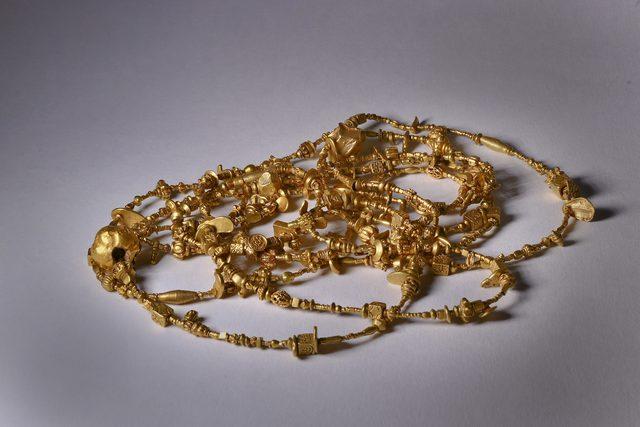 , 'Gold Bead Necklace Burma Pyu Dynasty 9th Century,' ca. 800, Sue Ollemans