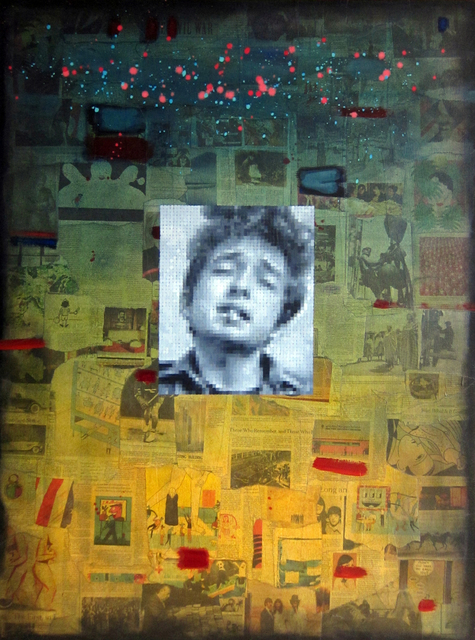 Brian Batt, ' DYLAN ON COLLAGE', 2014, The Hollows