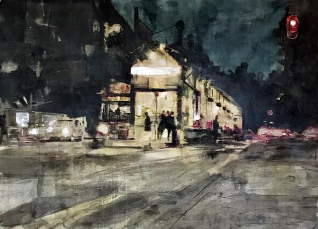 , 'Estación nocturna,' 2018, Galería Casa Lamm
