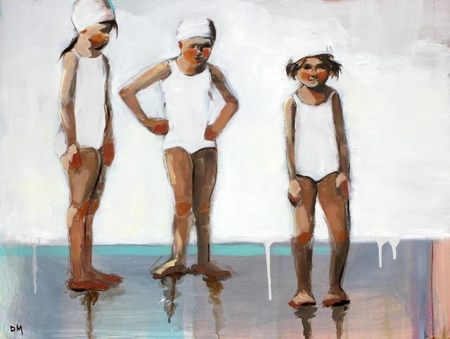 ", '""Swim Day"" Three Girls in White Bathing Suits ,' 2010-2018, Eisenhauer Gallery"