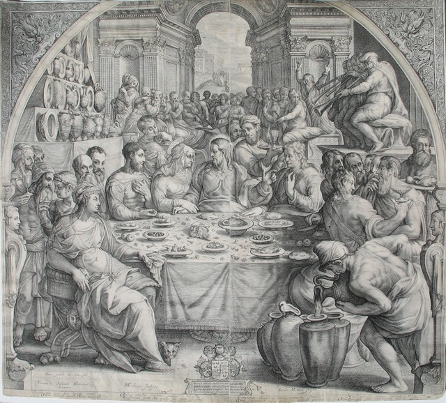 , 'The Marriage at Cana,' 1601, Jan Johnson Old Master & Modern Prints