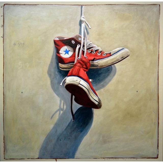 ", '""#519"" Vintage red Converse on Light Neutral Background,' 2010-2017, Eisenhauer Gallery"