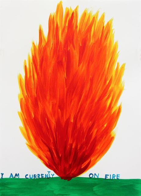 David Shrigley, 'I'm Currently On Fire', 2018, Galerie Maximillian