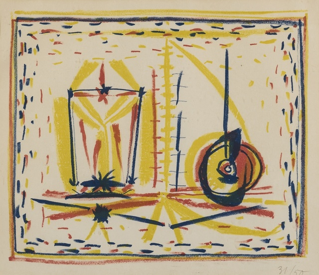 Pablo Picasso, 'Compostion au verre et a la pomme (Mourlot 33)', 1946, Forum Auctions