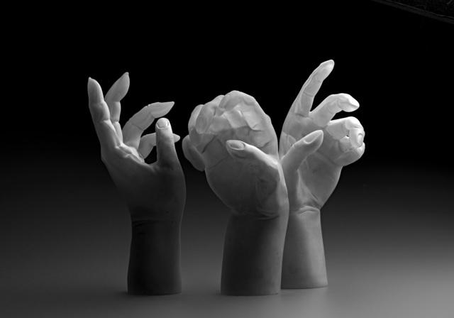 , 'Studies of Hands,' 2018, Galerie Kuzebauch