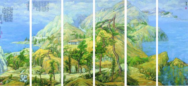 , 'Bada (six panels) - Cezanne,' 2006, Tina Keng Gallery