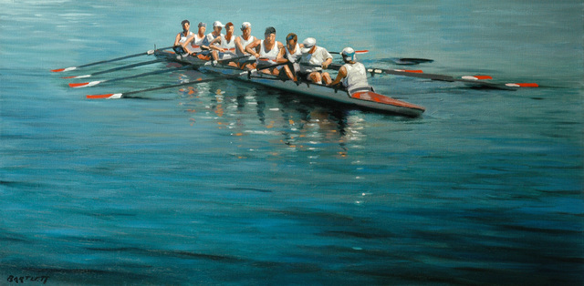Harley Bartlett, 'Making Ready (Brown U. Boathouse)', ca. 2019, The Guild of Boston Artists