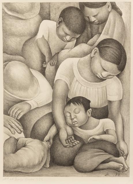 Diego Rivera, 'El Sueño (La Noche de los Pobres)', 1932, Hecho a Mano