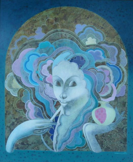 , 'Blue Lady,' 1989, Myriam Nader Haitian Art Gallery