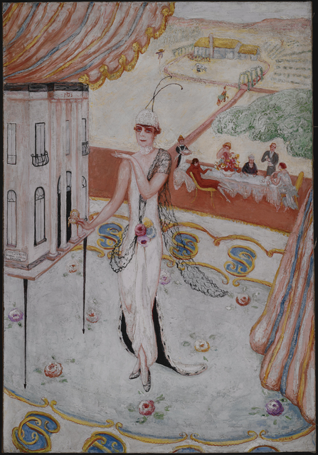 Florine Stettheimer, 'Portrait of My Sister, Carrie W. Stettheimer', 1923, Painting, Oil on canvas laid on hardboard backing, Avery Library