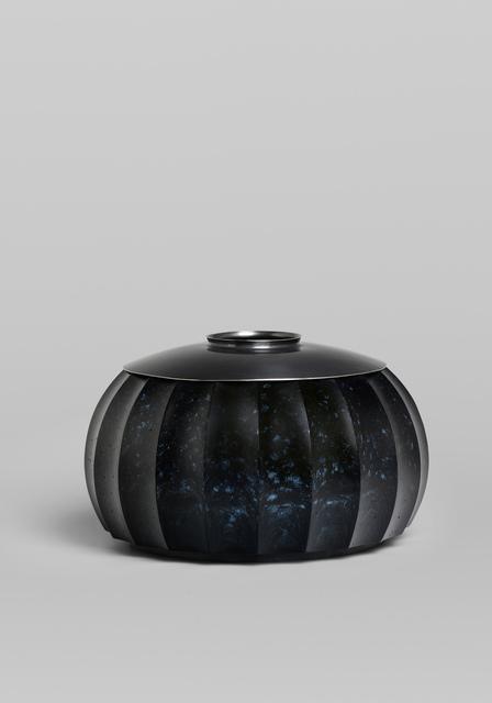 , 'Blue speckled lidded vessel,' 2019, von Bartha
