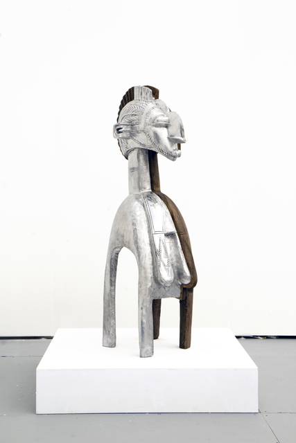 , 'Baga Nimba (Silver),' 2018, TAFETA