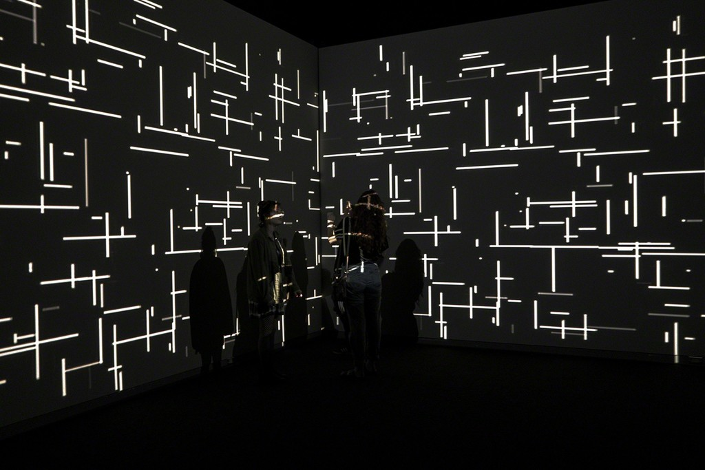 Magdalena Fernández, 2iPM009, 2009. Video installation with sound. Installation view at Phoenix Art Museum, 2017. Courtesy of the artist and Sicardi Gallery.