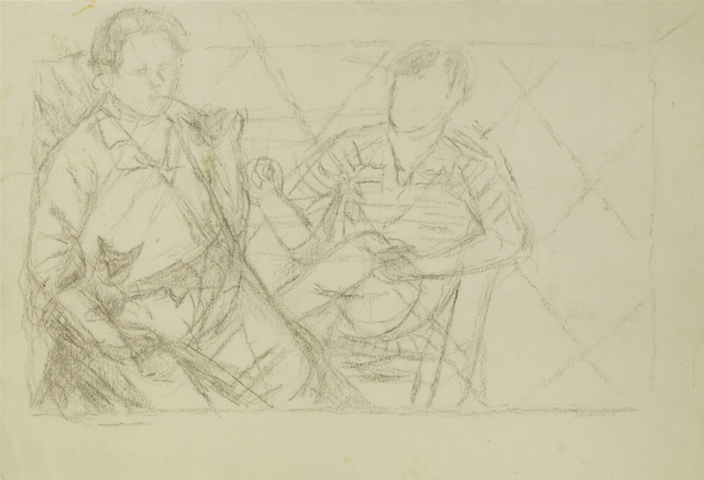 Marie Vorobieff Marevna, 'Pablo Picasso and Diego Rivera study', Roseberys