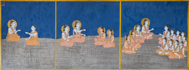 , 'The transmission of teachings, page 3 from a manuscript of the Nath Charit (Stories of the Naths),' 1823, Asian Art Museum