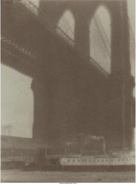 William Gordon Shields, 'Brooklyn Bridge', circa 1900, Heritage Auctions