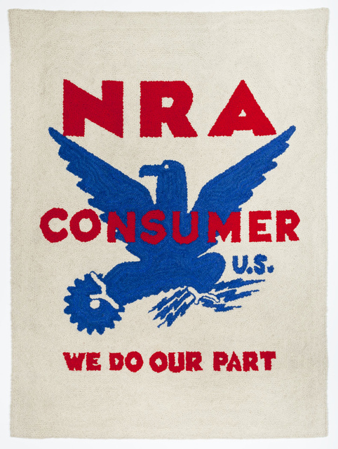 , 'NRA Tapestry (National Recovery Administration),' 1963, Allan Stone Projects