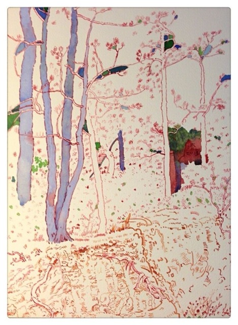 , 'Pines on the Dragon Slope,' 2013, Aye Gallery